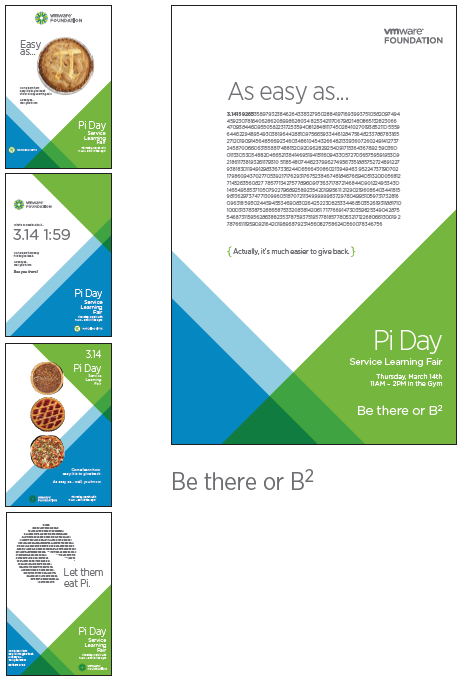 VMware Pi Day Posters